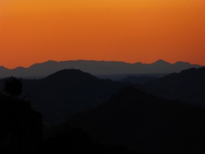 Sunset from Bundella Lookout, Coolah Tops NP