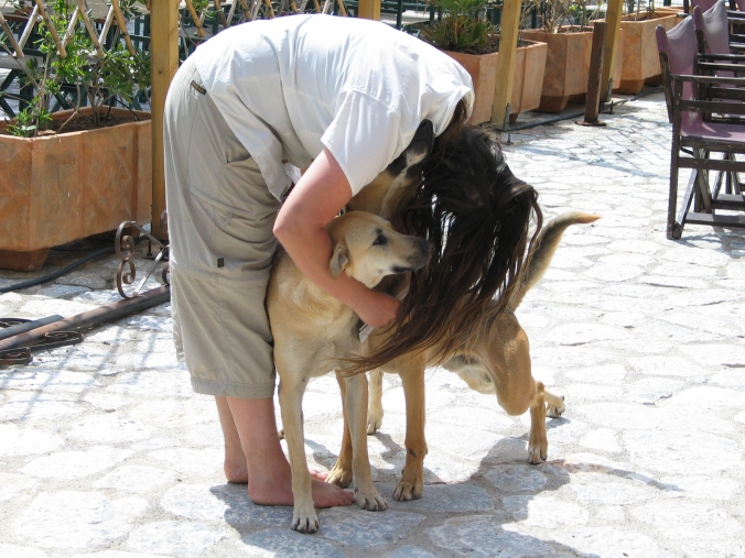 Making friends with the locals - Greece 05